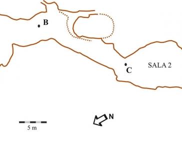 Planimetria Grotta Corbeddu