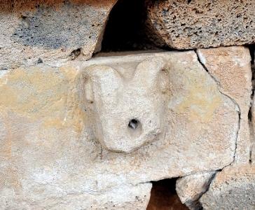 Protome Fonte sacra Sa Sedda 'e sos Carros