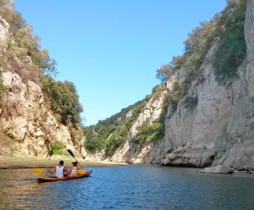 Canoe sul fiume Cedrino
