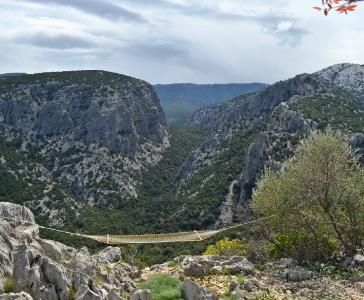 Veduta dal Monte Tiscali, Oliena